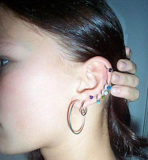 piercing my ears. keep piercing my ears!